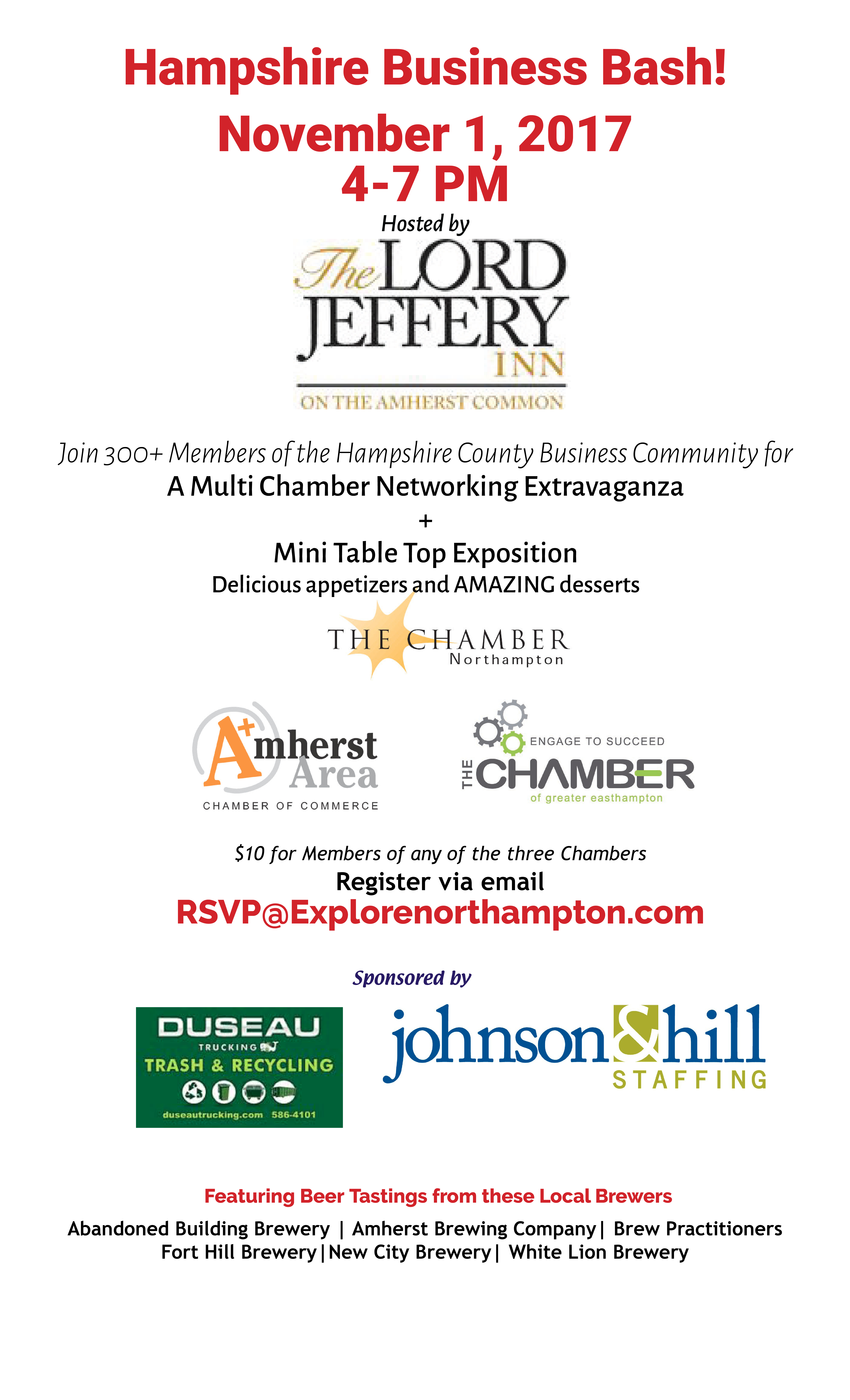 November Hampshire County Business Bash- tables sold out